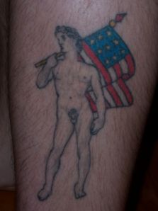 The naked man tattoo in question