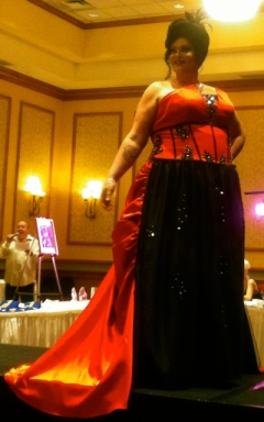 pinky pageant gown