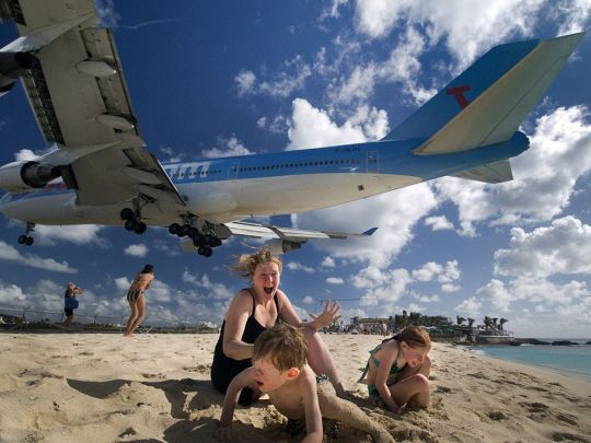 Short final in St Maarten