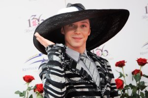 The fearless Johnny Weir.  If ever there was a HAHAT...